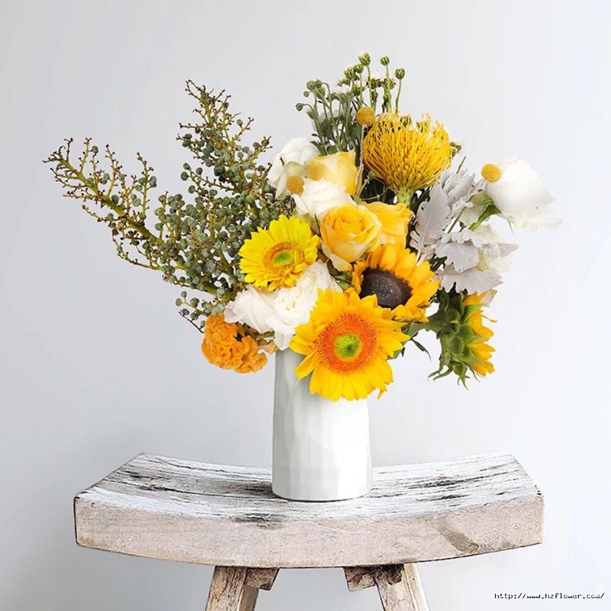 向日葵插花作品